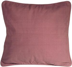 Ribbed Cotton Raspberry 24x24 Throw Pillow