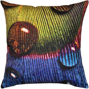 Peacock Splash YPB Throw Pillow 20x20