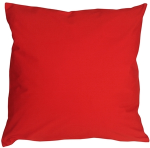 Caravan Cotton Red 20x20 Throw Pillow