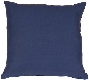 Tuscany Linen Indigo Blue 17x17 Throw Pillow