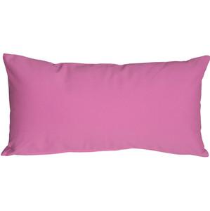 Caravan Cotton Orchid Pink 9x18 Throw Pillow