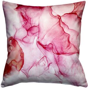 Khyber Haze Red Throw Pillow 20x20