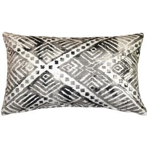 Tangga Gray Throw Pillow 12X20