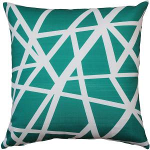 Birds Nest Teal Throw Pillow 20X20