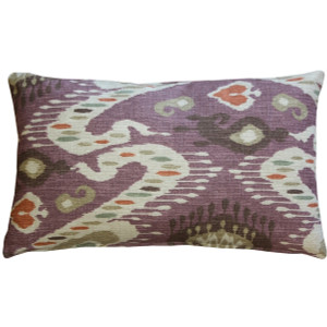 Solo Mulberry Ikat Throw Pillow 12x20