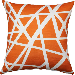 Birds Nest Orange Throw Pillow 20X20