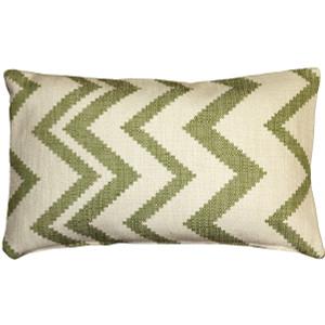 Lorenzo Zigzag Green 12x20 Throw Pillow