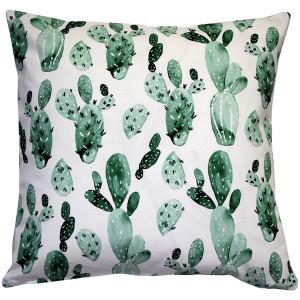Cactus Motif Decorative Throw Pillow 20x20