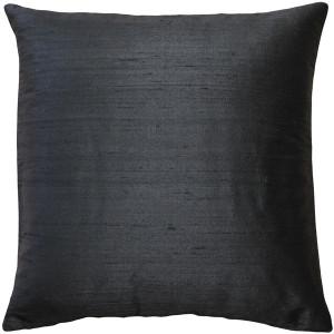 Sankara Black Silk Throw Pillow 16x16