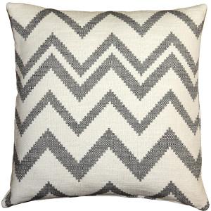 Lorenzo Zigzag Gray 20x20 Throw Pillow