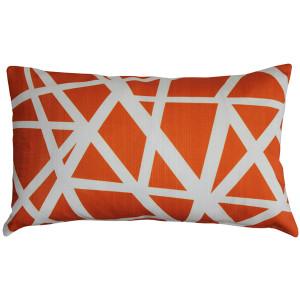 Birds Nest Orange Throw Pillow 12x19