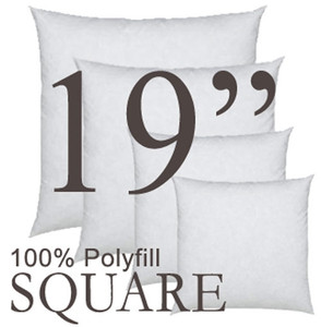 19x19 Square Polyfill Throw Pillow Insert