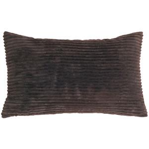Wide Wale Corduroy 12x20 Earth Brown Throw Pillow