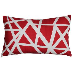 Birds Nest Red Throw Pillow 12x19