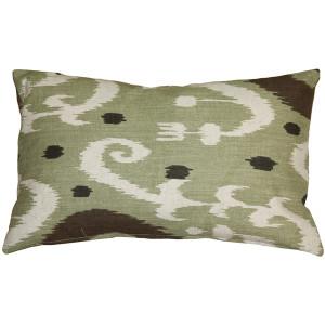 Indah Ikat Green 12x20 Throw Pillow