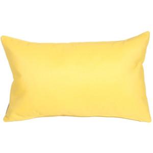 Sunbrella Buttercup Yellow 12x19 Outdoor Pillow