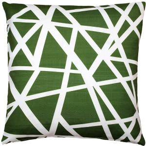 Birds Nest Green Throw Pillow 20X20