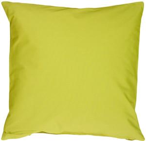 Caravan Cotton Lime Green 16x16 Throw Pillow