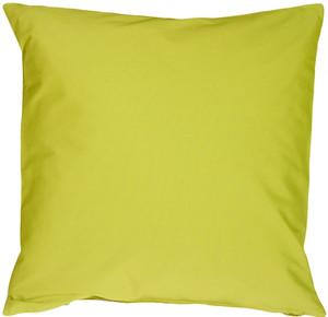 Caravan Cotton Lime Green 18x18 Throw Pillow
