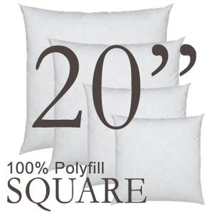 20x20 Square Polyfill Throw Pillow Insert