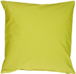 Caravan Cotton Lime Green 23x23 Throw Pillow