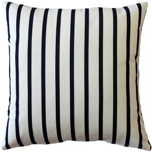 Sunbrella Lido Indigo Stripes 20x20 Outdoor Pillow