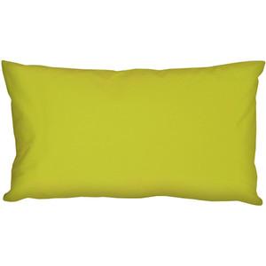 Caravan Cotton Lime Green 9x18 Throw Pillow