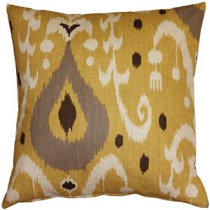 Indah Ikat Yellow 20x20 Throw Pillow
