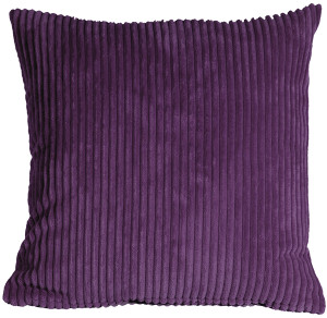 Wide Wale Corduroy 18x18 Purple Throw Pillow