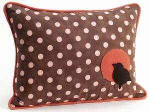 Bird Polka Dot Decorative Throw Pillow
