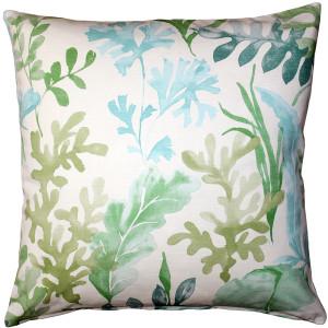 Sea Garden Green Throw Pillow 20X20