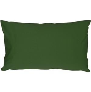 Caravan Cotton Forest Green 9x18 Throw Pillow
