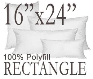 16x24 Rectangular Polyfill Throw Pillow Insert