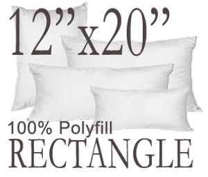 12x20 Rectangular Polyfill Throw Pillow Insert