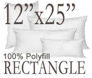 """12""""x25"""" Rectangular Polyfill Throw Pillow Insert"""