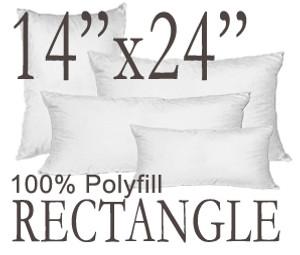14x24 Rectangular Polyfill Throw Pillow Insert