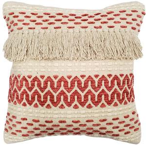 Ojai Red Bohemian Pillow 20x20 Boho Style Throw Pillow from Pillow Decor