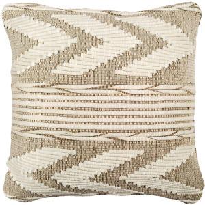 Ojai Cream Chevron Bohemian Pillow 20x20 Boho Style Throw Pillow from Pillow Decor