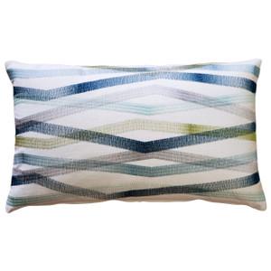 Wandering Lines Deep Sea Throw Pillow 12x19