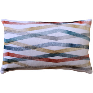 Wandering Lines Ocean Coast Throw Pillow 12x19