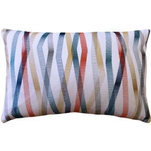 Wandering Lines Ocean Coast Throw Pillow 14x24
