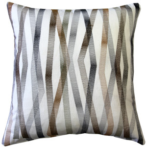 Wandering Lines Forest Grove 19 Inch Square Throw Pillow from Pillow Decor