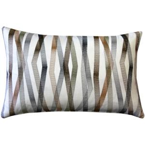 Wandering Lines Forest Grove 14x24 Inch Rectangular Throw Pillow from Pillow Decor