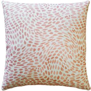 Matisse Dots Coral Pink Throw Pillow 19x19