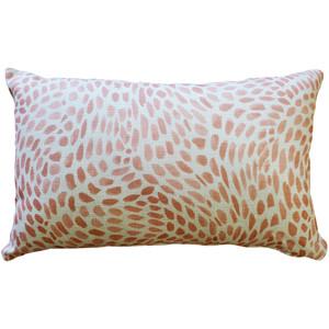 Matisse Dots Coral Pink Throw Pillow 12x19