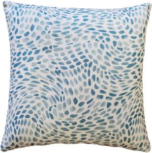 Matisse Dots Toile Blue Throw Pillow 19x19