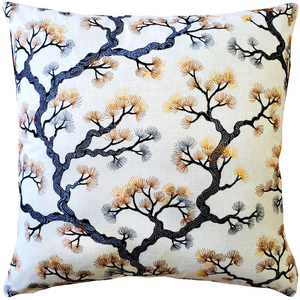 Bonsai Pine Onyx Amber Throw Pillow 19x19