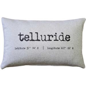 Telluride Gray Felt Coordinates Pillow 12x19
