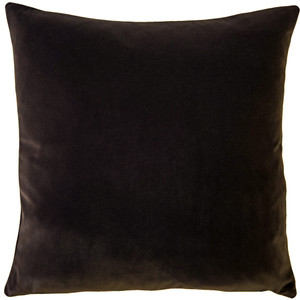 Castello Espresso Brown Velvet 20 Inch Square Throw Pillow