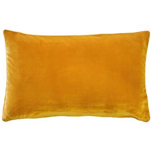 Castello Deep Yellow 12x20 Inch Rectangular Velvet Throw Pillow